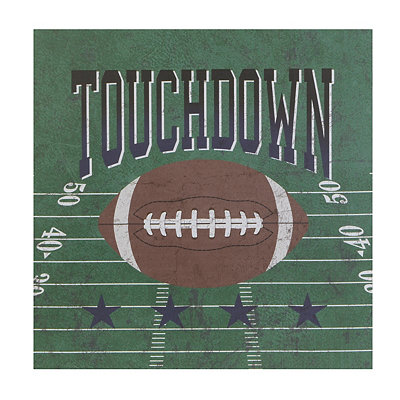 Football Touchdown Canvas Art Print