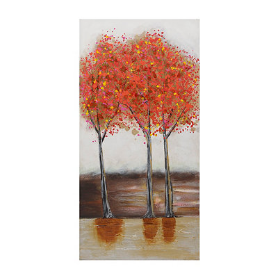 Orange Tree Trio Canvas Art Print