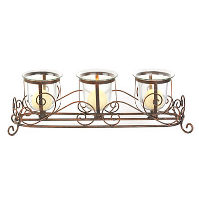 Bronze Scrolled Candle Runner