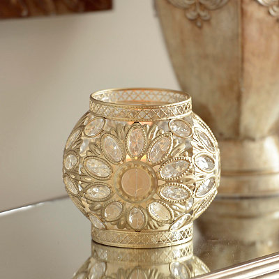 Champagne Jeweled Lantern