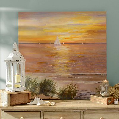 Sailboats in the Sunset Canvas Art Print