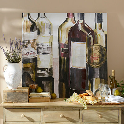 Wine Bottles Canvas Art Print