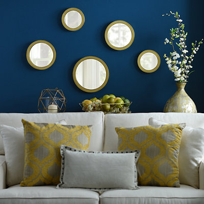 Gold Circle Mirror, Set of 5