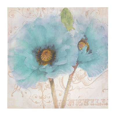 Soft Blue Blossoms Canvas Art Print