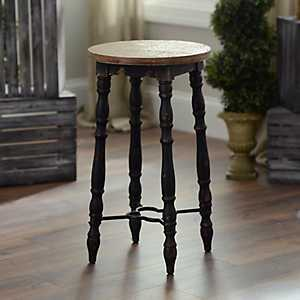 Distressed Black Cottage Spindle Bar Stool