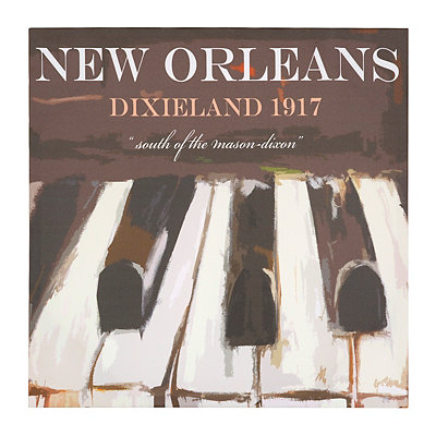 New Orleans Piano Canvas Art Print