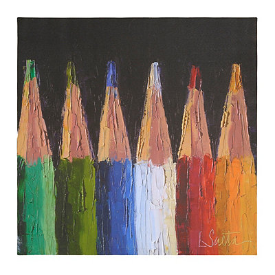 Colored Pencils Canvas Art Print