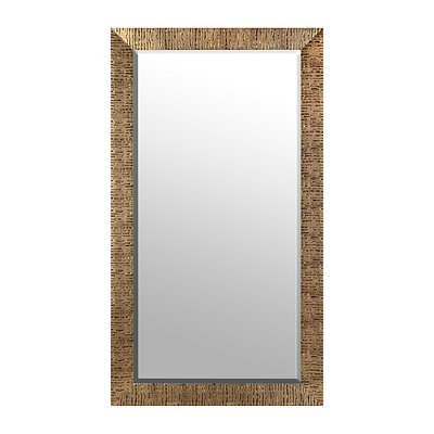 Gold Rugged Zebra Stripe Framed Mirror, 38x68