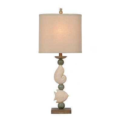 Shell and Fish Table Lamp