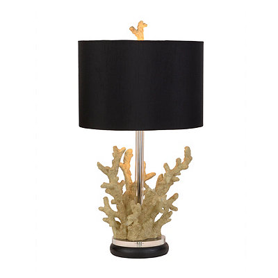 Beige Coral Table Lamp