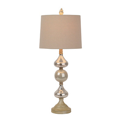 Silver Washed Orb Table Lamp