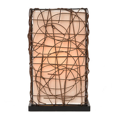 Rattan Linen Uplight