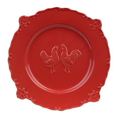 Red Rooster Dinner Plate
