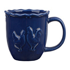 Dark Blue Rooster Mug
