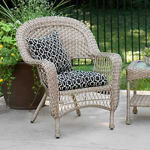 Savannah Driftwood Wicker Chair