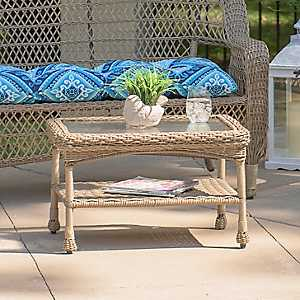 Savannah Driftwood Wicker Coffee Table