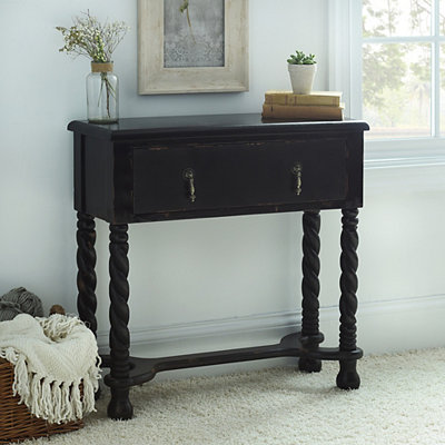 Black Twisted Wood Console Table