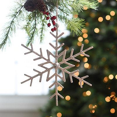 Rustic White Snowflake Ornament