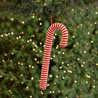 Red & White Candy Cane Ornament