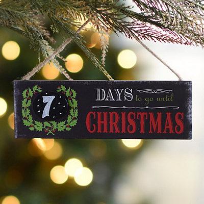Christmas Countdown Chalkboard Ornament