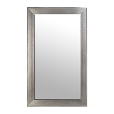 Brushed Silver Framed Mirror, 46x76 in.