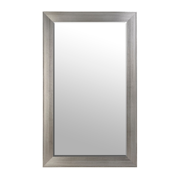 Lovely Brushed Silver Framed Mirror, 46x76 In.