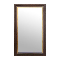 Dark Bronze and Gold Framed Mirror, 46x76 in.