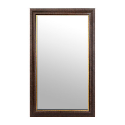 Dark Bronze and Gold Framed Mirror, 45.5x75.5