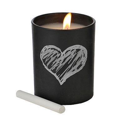 Black Fresh Linen Chalk Talk Jar Candle