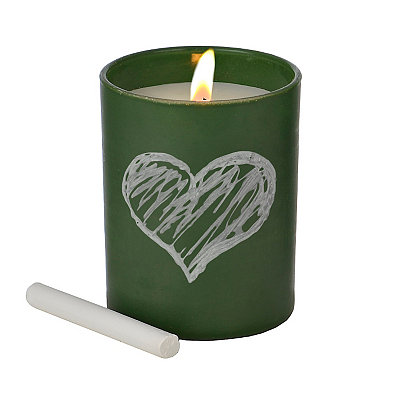 Green Lemon Basil Chalk Talk Jar Candle