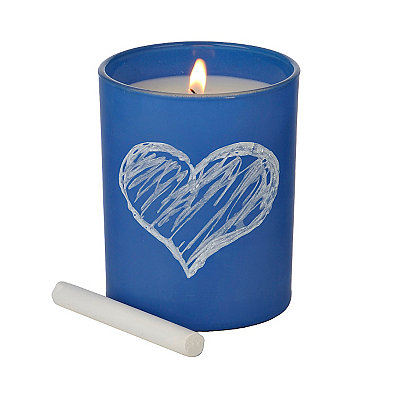 Blue Ocean Mist Chalk Talk Jar Candle
