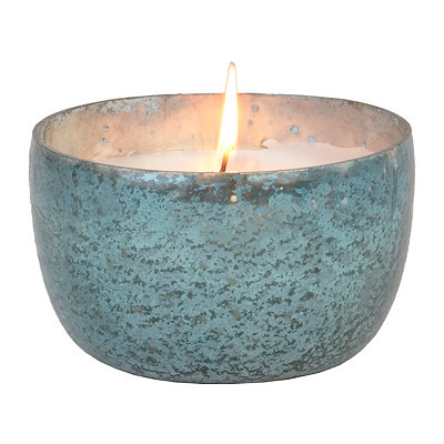 Blue Foil Ocean Breeze Jar Candle