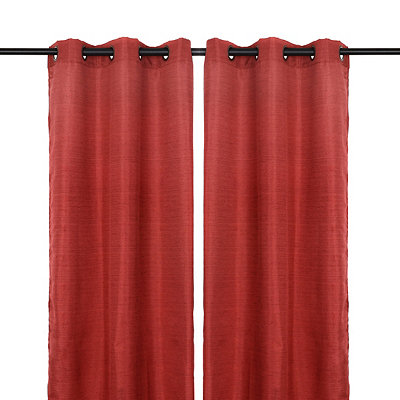 Solid Red Curtain Panel Set, 108 in.