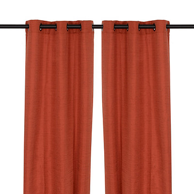 Solid Spice Curtain Panel Set, 108 in.