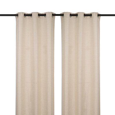 Solid Taupe Curtain Panel Set, 108 in.