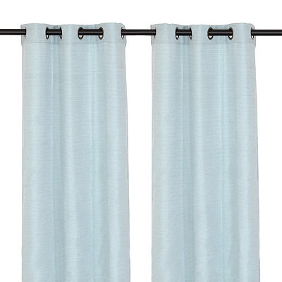 Solid Blue Curtain Panel Set, 108 in.