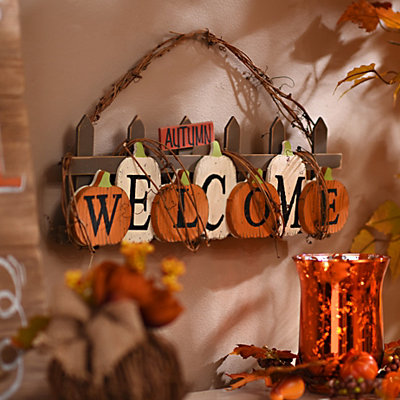Welcome Twig Hanging Sign