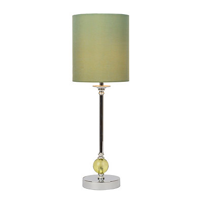Green Glass Orb Buffet Lamp