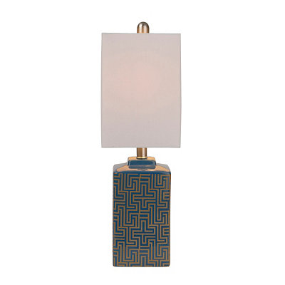 Blue and Gold Geometric Table Lamp
