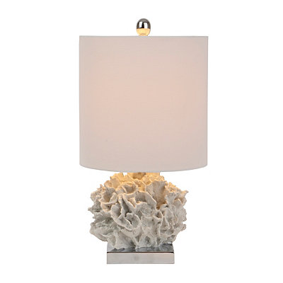 Cream Coral Table Lamp