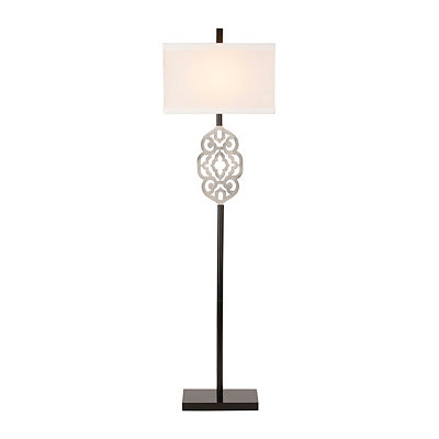 Cutout Silver Metal Floor Lamp