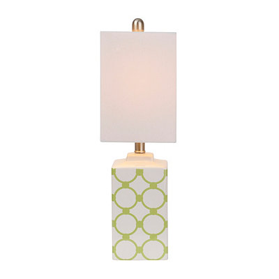 Green Geometric Ceramic Table Lamp