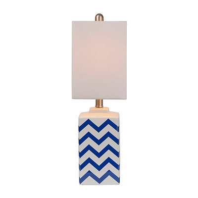 Navy Chevron Ceramic Table Lamp