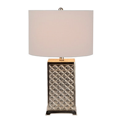 Nickel Diamond Table Lamp