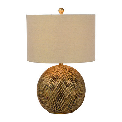 Golden Hammered Table Lamp