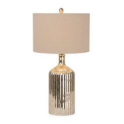 Fluted Mercury Glass Table Lamp