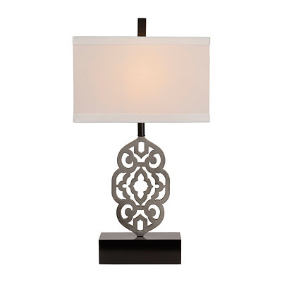 Cutout Silver Metal Table Lamp