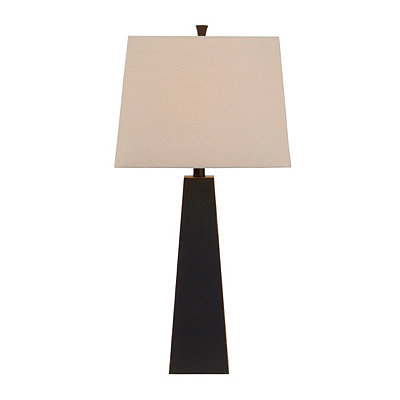 Tall Bronze Pyramid Table Lamp