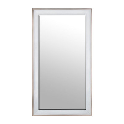White Wood Grain Framed Mirror, 38x68