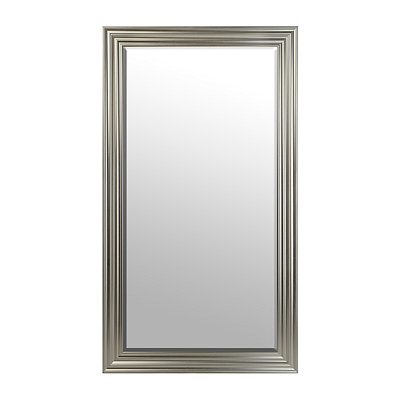Silver Ridged Framed Mirror, 38x68 in.